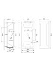 Акриловая ванна TRIUMPH RB665101 170х87х65 с каркасом