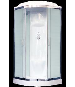 Душевая кабина RB 100HK6-WC-CH (белое/матовое) 100x100x217