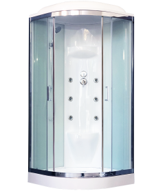 Душевая кабина RB 100HK7-WT-CH (белое/прозрачное) 100x100x217