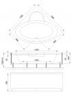 Гидромассажная ванна FANKE COMFORT 140x140x65