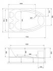 Гидромассажная ванна SHAKESPEARE COMFORT 170х110х67 L