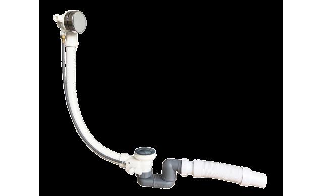 Слив-перелив для ванны полуавтомат с функцией набора воды